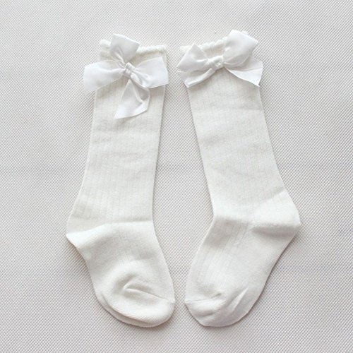 TheFound Unisex Baby Girls Boys Socks Knee High Stockings Bow Socks